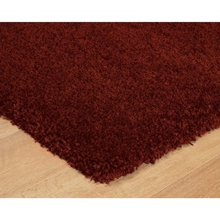 Luxury Red Thick Shag Area Rug - 5' x 8'