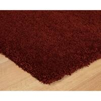 Luxury Red Thick Shag Area Rug - 5'3 x 7'5