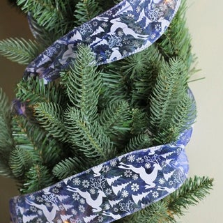 Flying Reindeer Wired Christmas Craft Ribbon