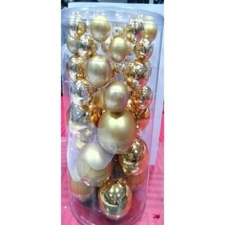 40-Piece Gold Glass Ball Christmas Ornament Set