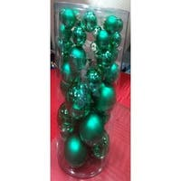 40-Piece Green Glass Ball Christmas Ornament Set
