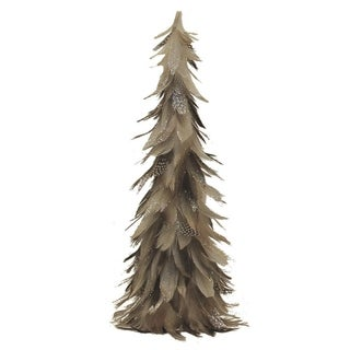 Light Brown & Gray Cone Tree Christmas Decoration