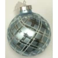 4-Piece Pattern on a Silver Glass Ornament Set