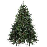 6.5' Delta Pine with Pine Cones Christmas Tree
