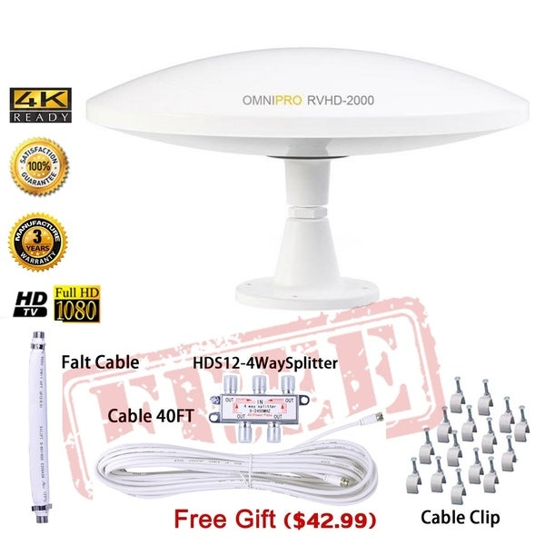 Lava Omnipro HD-8008 Omni-Directional HDTV Antenna Free Shipping
