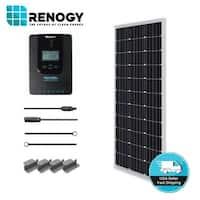 Renogy 100W 12V Mono Solar Starter Kit w/ MPPT Charge Controller