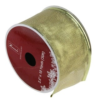 Textured Gold Wired Christmas Craft Ribbon