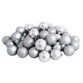 Silver Splendor 4-Finish Christmas Ball Ornaments