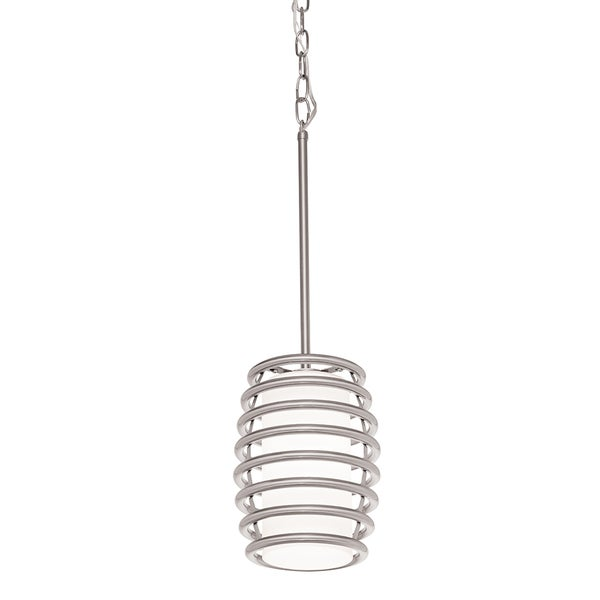 Aztec Lighting Contemporary 1-light Brushed Nickel Pendant