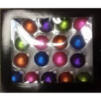 18-Piece Bright Glass Ball Christmas Ornament Set