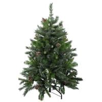 4' Delta Pine with Pine Cones Christmas Tree