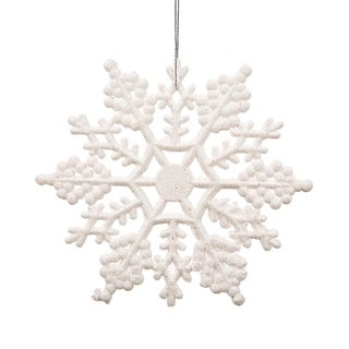 Pack of 240 White Snowflake Christmas Ornaments