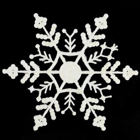 Pack of 144 White Snowflake Christmas Ornaments