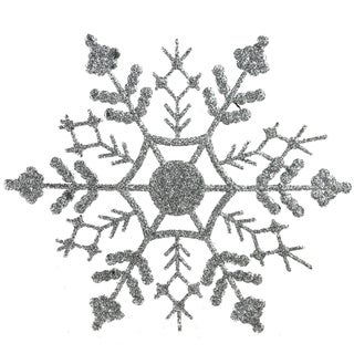 Pack of 144 Silver Snowflake Christmas Ornaments
