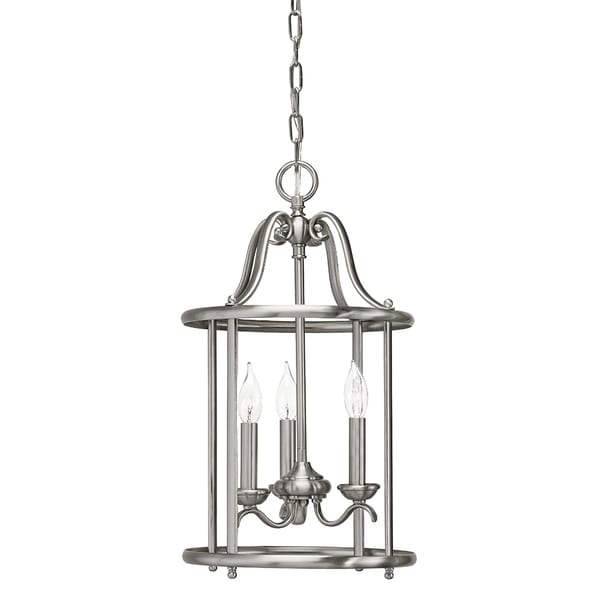 Aztec Lighting Transitional 3-light Brushed Nickel Pendant
