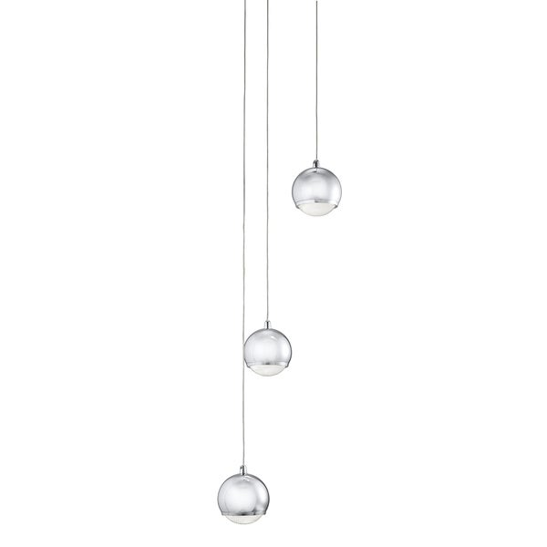 Aztec Lighting Contemporary 3-light Chrome LED Pendant