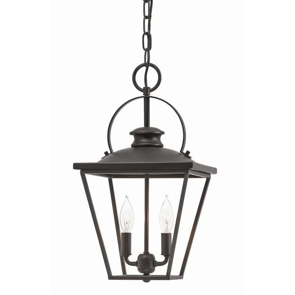 Aztec Lighting Transitional 2-light Olde Bronze Pendant