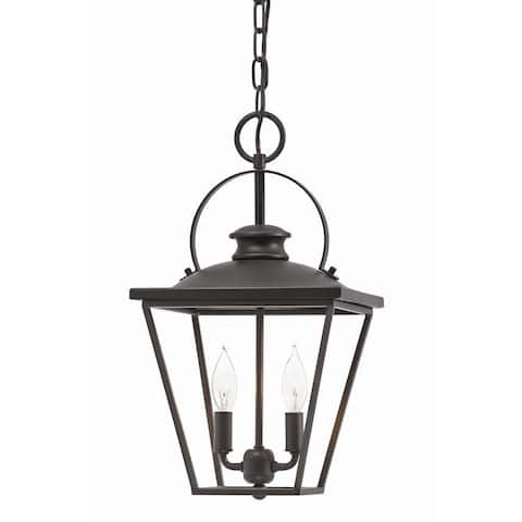 Buy 2 lights ceiling lights online at overstock our best aztec lighting transitional 2 light olde bronze pendant aloadofball Gallery