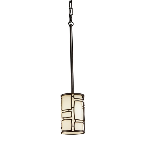 Aztec Lighting Transitional 1-light Olde Bronze Pendant