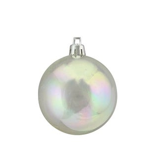 30ct Clear Iridescent Christmas Ball Ornament