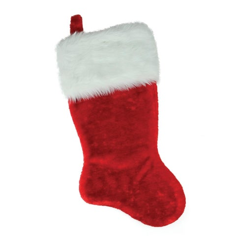 Red with White Cuff Extra Plush Christmas Stocking