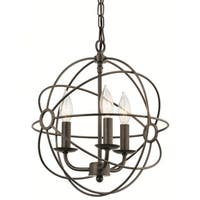 Aztec Lighting Transitional 3-light Coffee/Copper Pendant
