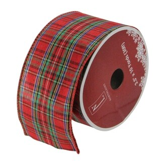Stripe Wired Christmas Craft Ribbon - 32607782