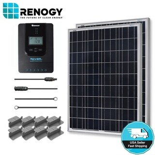 Renogy 200W 12V Poly Solar Starter Kit w/ MPPT Charge Controller