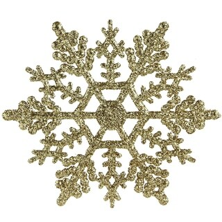 Pack of 240 Gold Snowflake Christmas Ornaments