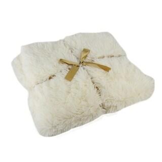 White Christmas Cream Decorative Throw Blanket