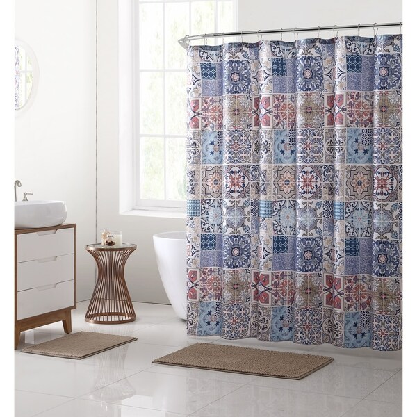 VCNY Home Azulejos 15 Piece Bath Set   Taupe