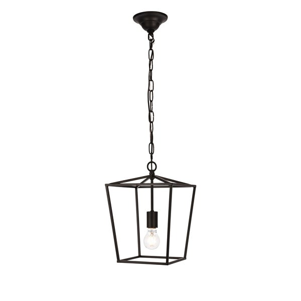 Maddox Collection Pendant D9.75 H14.5 Lt:1 Black Finish
