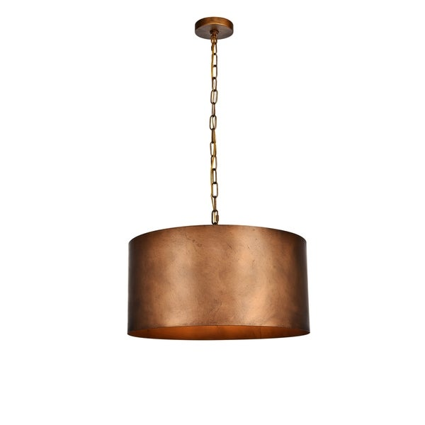 Miro Collection Pendant D20 H11.75 Lt:3 Manual Brass Finish