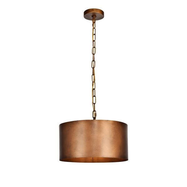 Miro Collection Pendant D15 H9.25 Lt:1 Manual Brass Finish - N/A