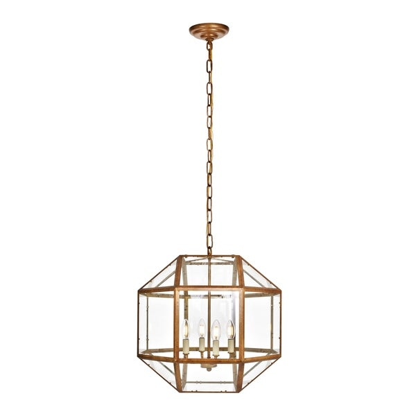 Caro Collection Pendant D14 H15 Lt:3 Vintage Gold Finish