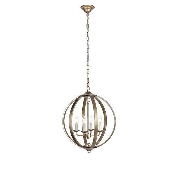 Marlow Collection Pendant D18 H22.5 Lt:4 Vintage Sliver Finish