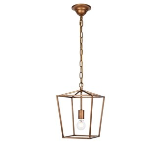 Maddox Collection Pendant D9.75 H14.5 Lt:1 Vintage Gold Finish