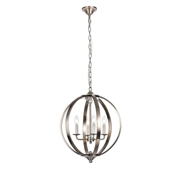 Marlow Collection Pendant D18 H22.5 Lt:4 Burnished Nickel Finish - N/A