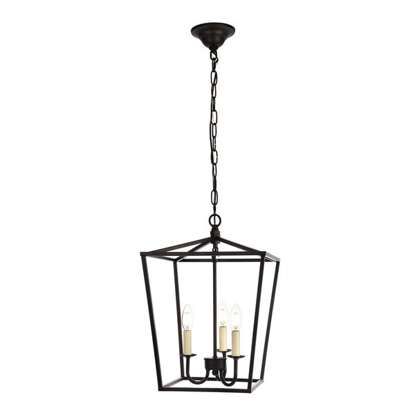 Maddox Collection Pendant D12.5 H18.25 Lt:3 Black Finish - N/A