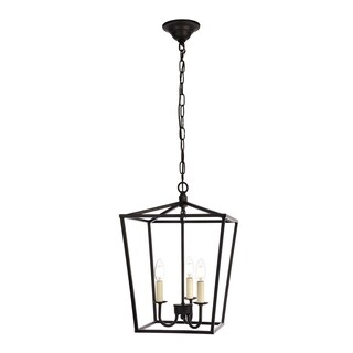 Maddox Collection Pendant D12.5 H18.25 Lt:3 Black Finish