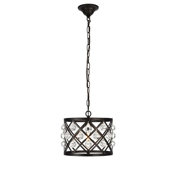 Camden Collection Pendant D13 H10.2 Lt:1 Black Finish
