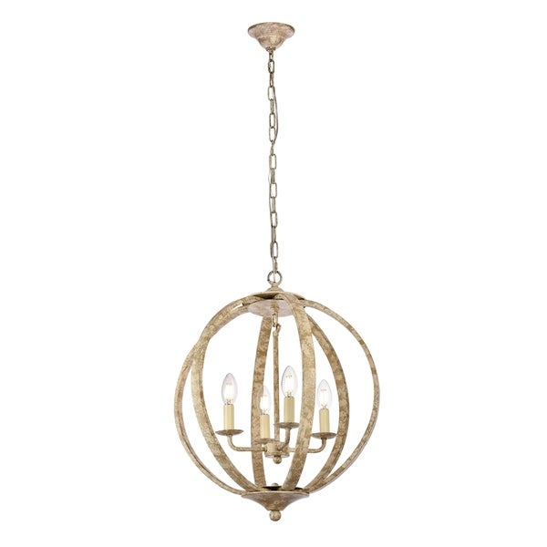 Marlow Collection Pendant D18 H22.5 Lt:4 Weathered Dove Finish