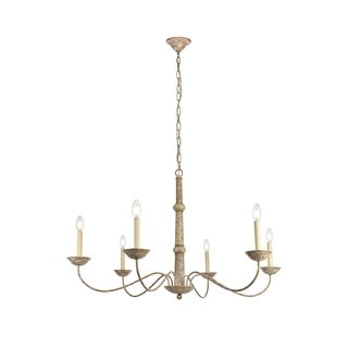 Merritt Collection Chandelier D39.8 H24 Lt:6 Weathered Dove Finish