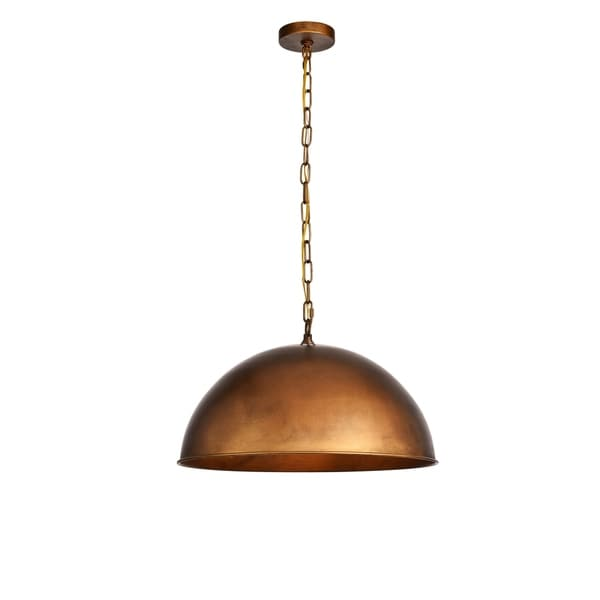 Merce Collection Pendant D20 H12.75 Lt:1 Manual Brass Finish - N/A