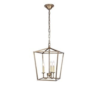 Maddox Collection Pendant D17 H24.25 Lt:4 Vintage Gold Finish