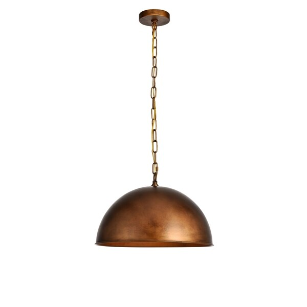Merce Collection Pendant D15 H10 Lt:1 Manual Brass Finish - N/A