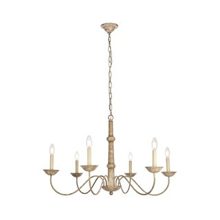 Merritt Collection Chandelier D35 H21.6 Lt:6 Weathered Dove Finish