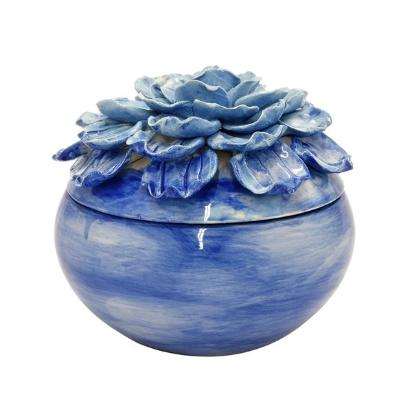 Three Hands Flower Ceramic Box