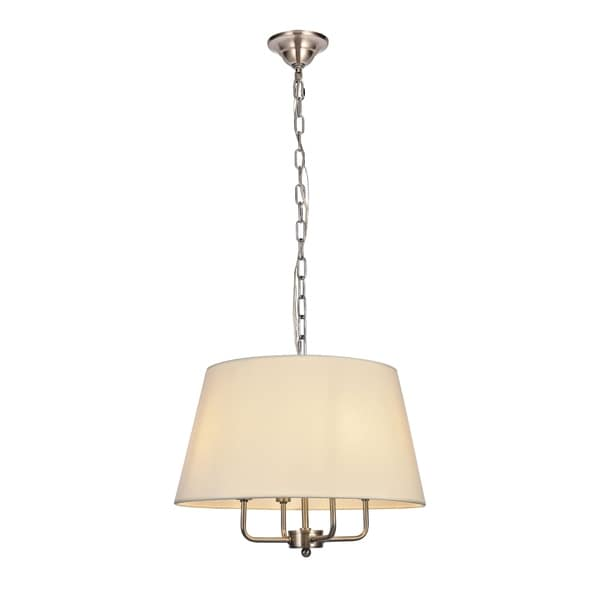 Maple Collection Pendant D17 H13.75 Lt:4 Burnished Nickel Finish - N/A