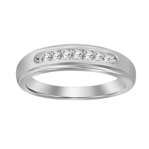Classic Mens Band 0.25ct White and Yellow gold.